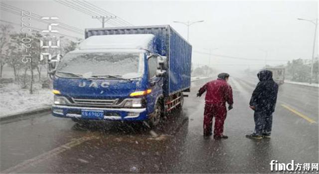 责任与坚守 江淮轻卡大雪中121公里的救援