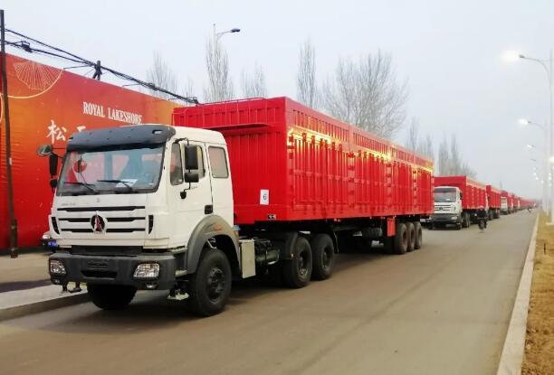 北奔重汽30台2638SZ重载牵引车发往蒙古国