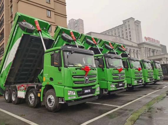 36辆徐工漢風G7环保渣土车极速交付