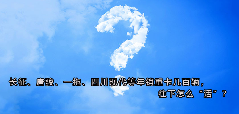 """?长征、唐骏、一拖、四川现代等年销重卡几百辆,往下怎么""""活""""?"""