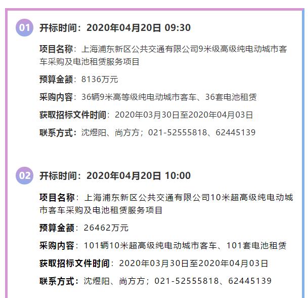 295辆!超7.1亿元!上海公交公司这批公交客车项目正在招标