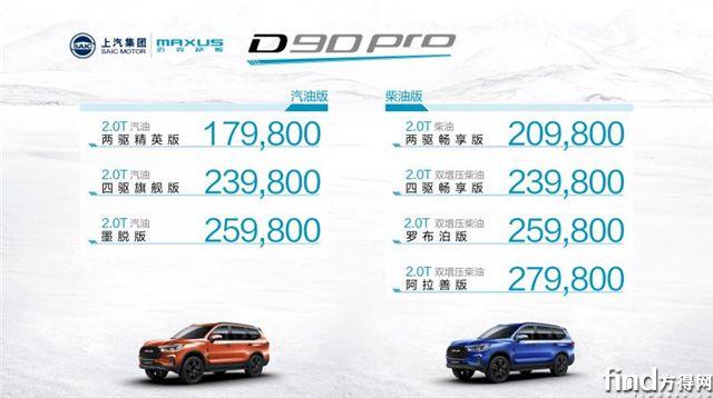 480N·m扭矩 全地形智能四驱  SUV标杆上汽MAXUS D90 Pro登场
