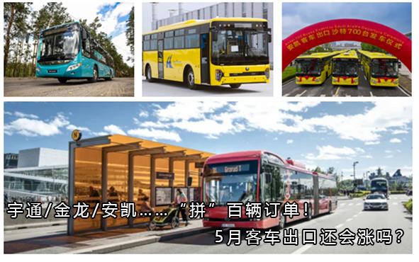 """宇通/金龙/安凯……""""拼""""百辆订单!5月客车出口还会涨吗?"""
