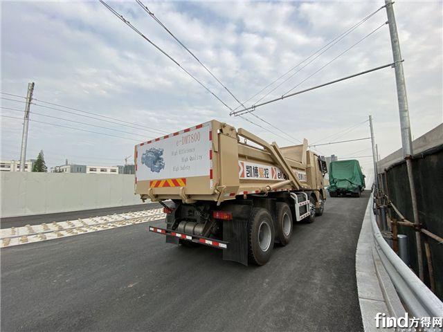 搭载eDMT800产品的渣土样车