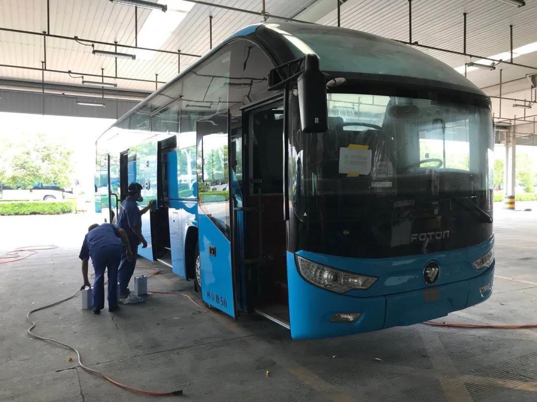 福田欧辉客车BJ6122成功交付宁夏中国国际旅行社