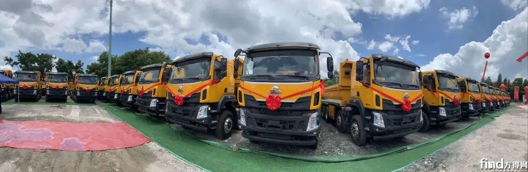 100辆搭载法士特变速器渣土车交付广州1