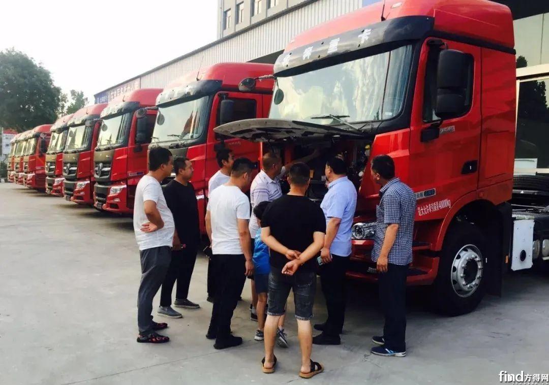 100辆搭载法士特变速器渣土车交付广州4