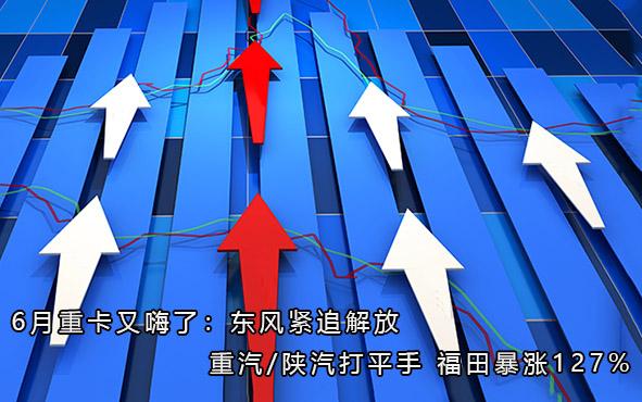 6月重卡又嗨了:东风紧追解放 重汽/陕汽打平手 福田暴涨127%