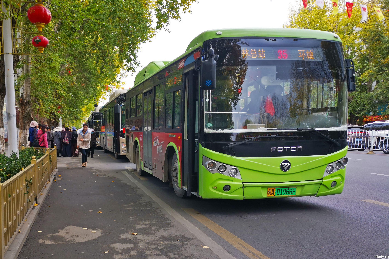 拉萨街头的福田欧辉新能源公交车