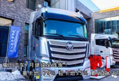 福田汽车7月继续全线涨!新万博手机版增179% 轻卡增55% 累销超24万辆