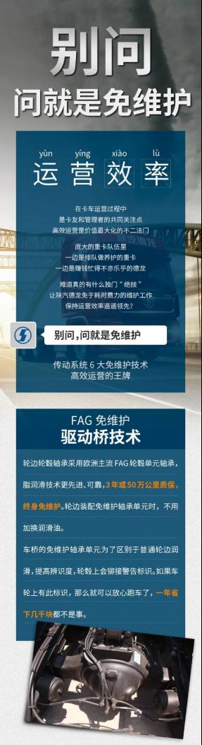 陕汽重卡丨传动系统6大免维护技术:别问,问就是免维护