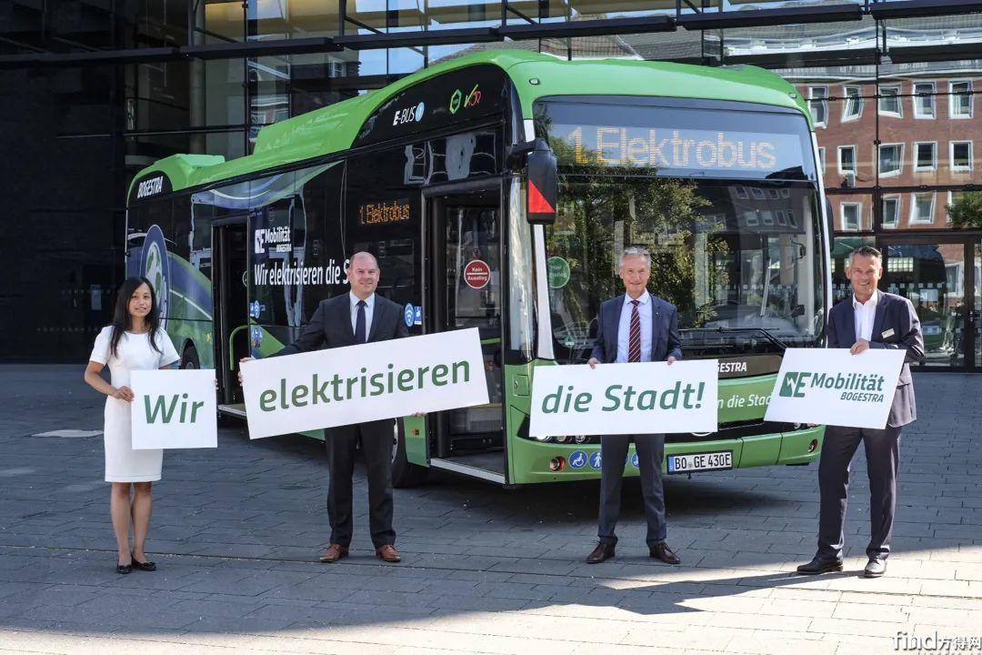 比亚迪新能源车交付德国市场现场