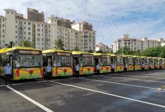 177辆金龙智慧安全公交车海口上线!助力海口实现全新能源公交时代