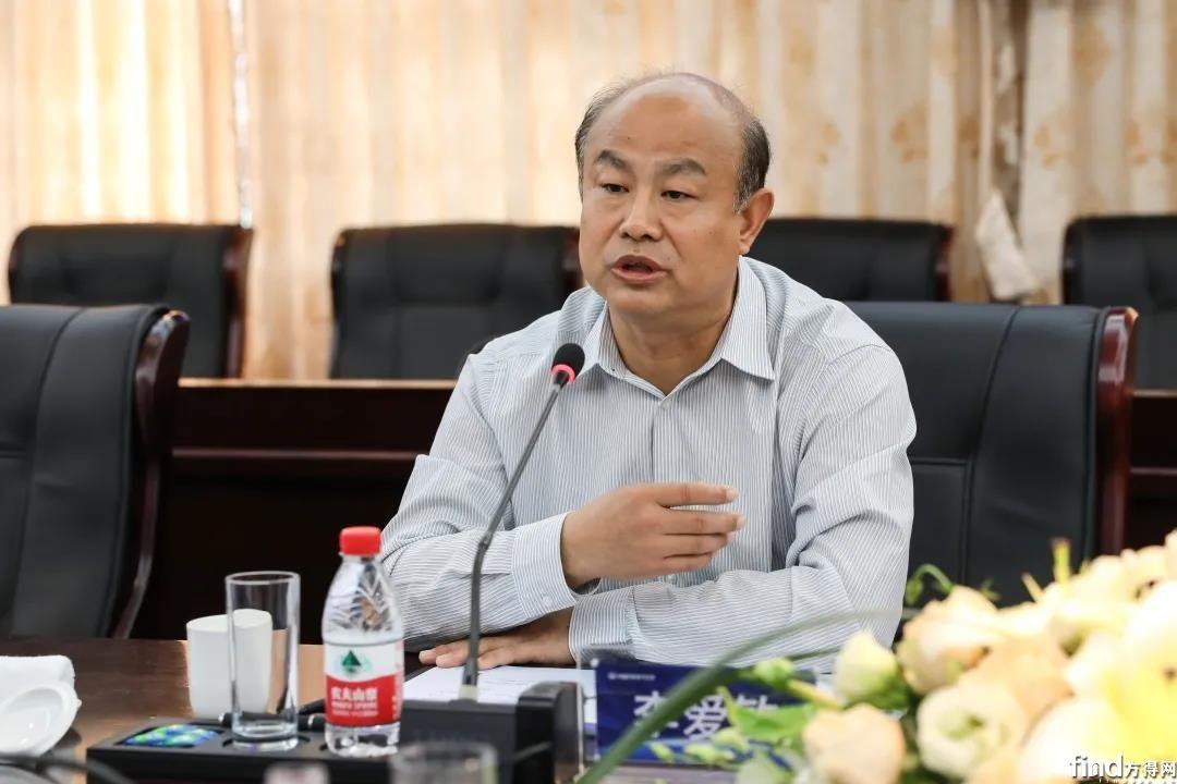 中铁电气化局集团有限公司党委书记、董事长李爱敏在会上发言