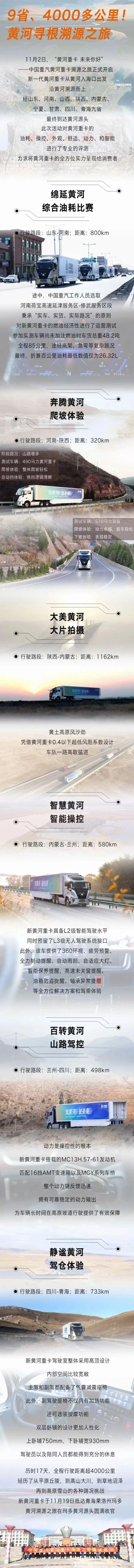 中国重汽黄河溯源之旅收官