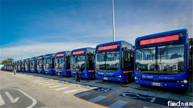 此前交付波哥大公交的比亚迪纯电动巴士