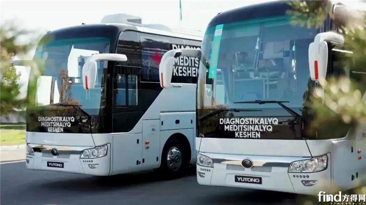 交付哈萨克斯坦的宇通移动医疗车5
