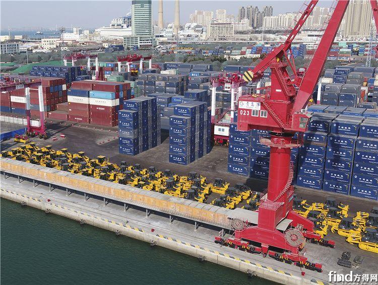 """今年3月山推全系列装备""""集结""""青岛港,助力""""一带一路""""建设"""