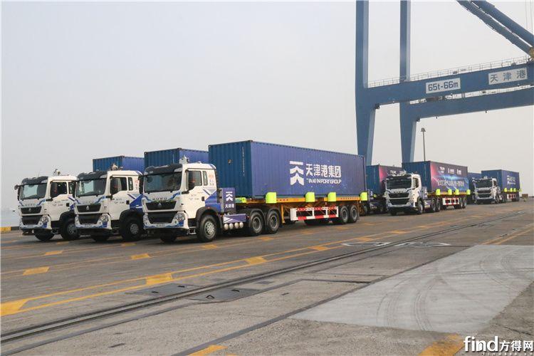 中国重汽L4级无人驾驶电动集装箱重卡