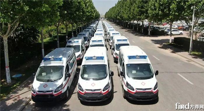 河北省批量采购1846台江铃福特新全顺负压救护车,已基本完成交车